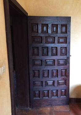 Porte Ancienne en chêne avec cadre