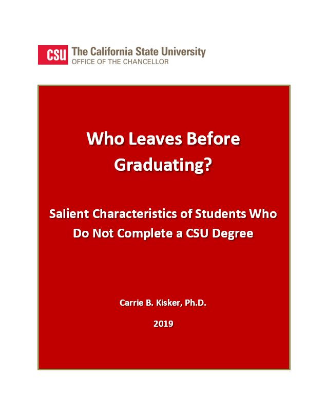 Who Leaves Before Graduating?