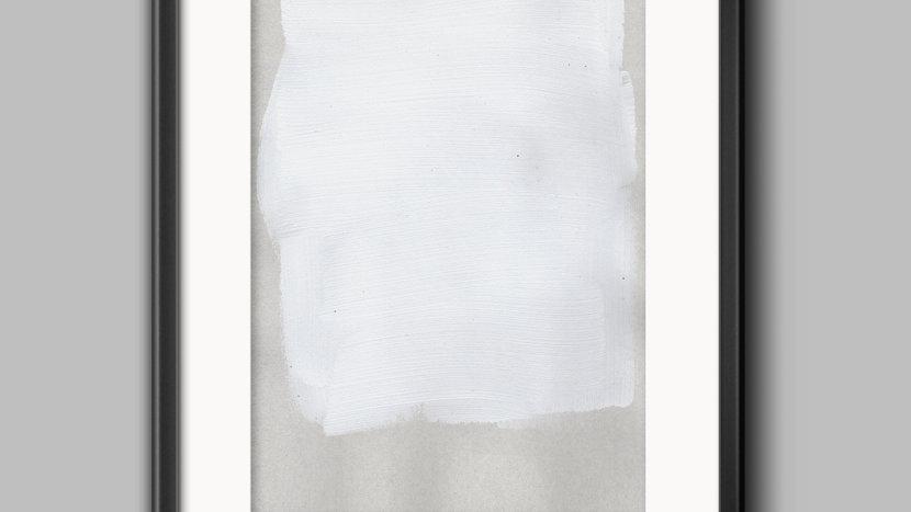Art Print White wawe (L)