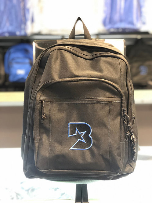 Bloc Star backpack - Black with black and blue