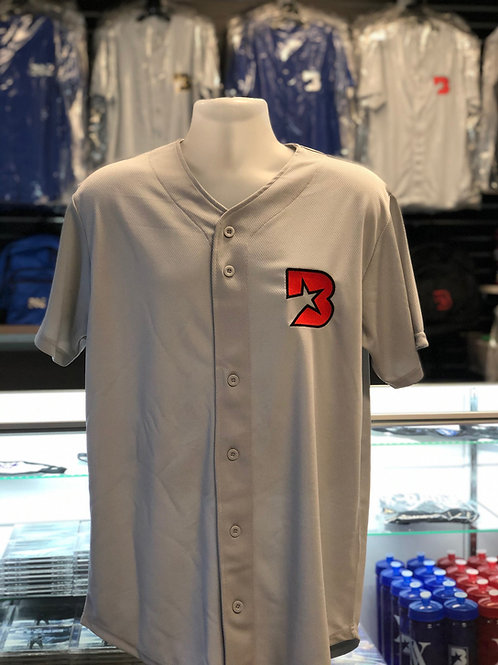 Bloc Star jersey - grey with infrared and black