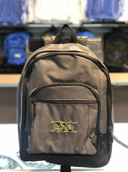 X-Raided backpack - Grey with Black and Gold
