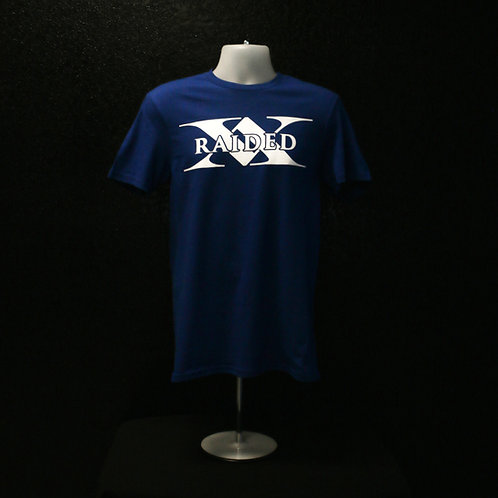 Blue X-Raided logo T-Shirt