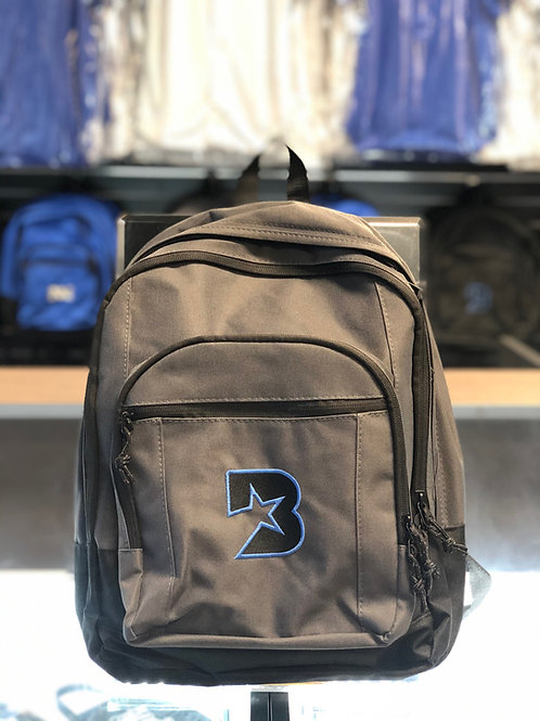 Bloc Star backpack - Grey with Black and Blue