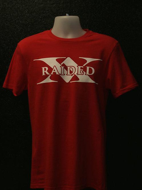 Red X-Raided logo t-shirt