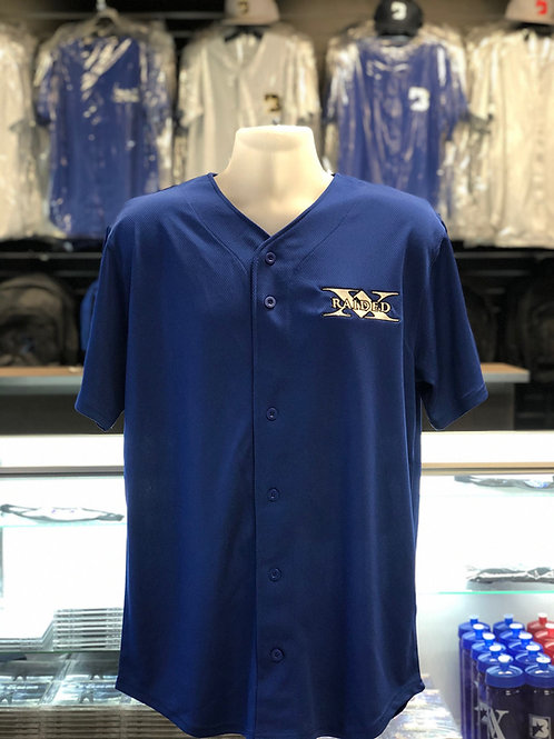 X-Raided jersey - blue with black and white