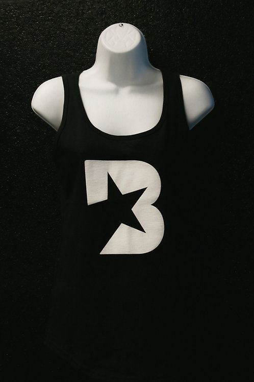 Women's Tank Top - B logo (in black and white)