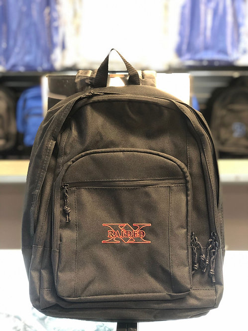 X-Raided backpack - Black with Black and Red