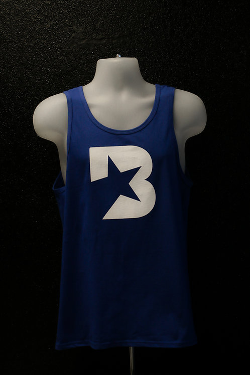 Blue Men's Tank Top - w/B logo