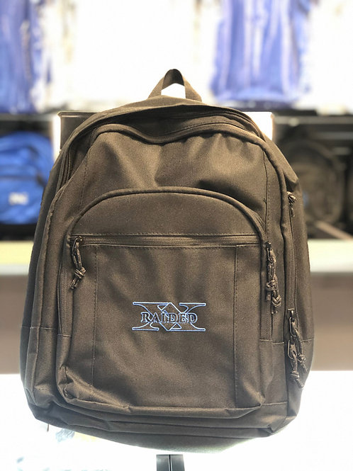 X-Raided backpack - Black with Black and Blue