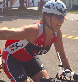 Jane Cervone in BE gear and Rudy Project helmet