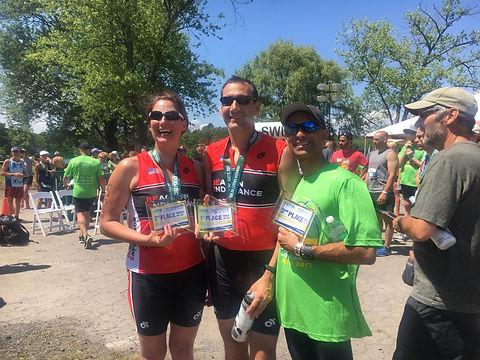 Teammates take home hardware at HITS William Lake Triathlon