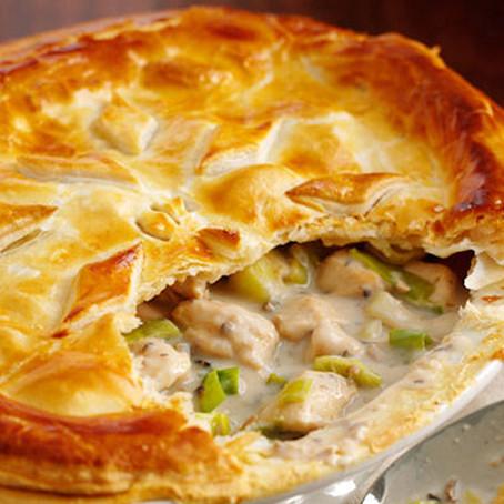 Creamy Chicken & Leek Pie (or Turkey & Leek)