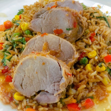 Sweet Chilli Pork with Rice