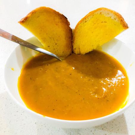 Smokin' Pumpkin & Sweet Potato Soup