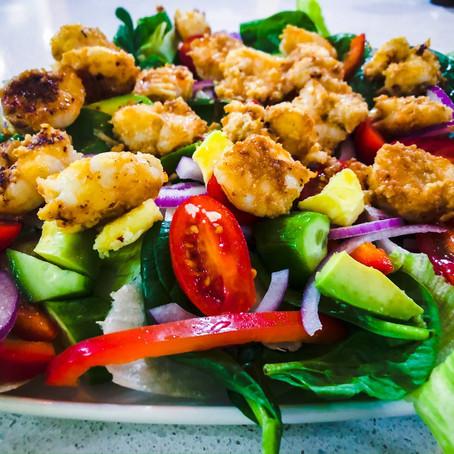 Garlic & Chilli Prawn Salad