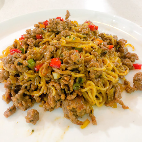 Asian Inspired Lamb Noodles