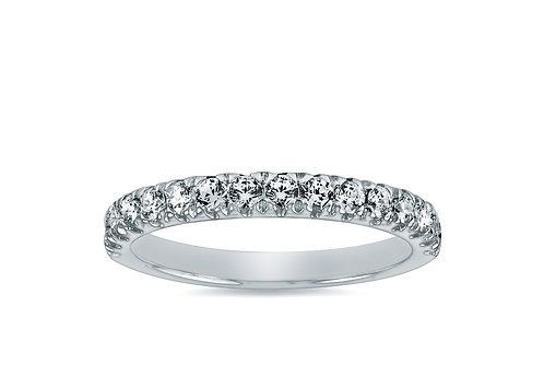 Platinum - Diamond Wedding Band