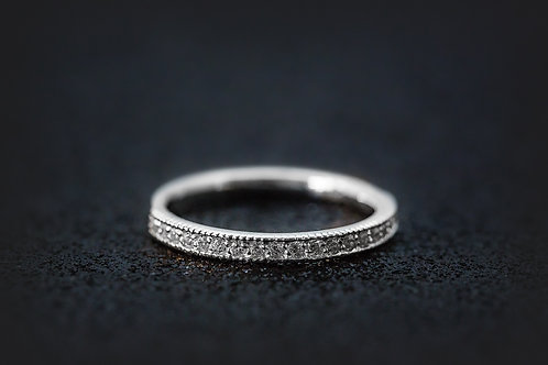 Platinum - Diamond Wedding Band