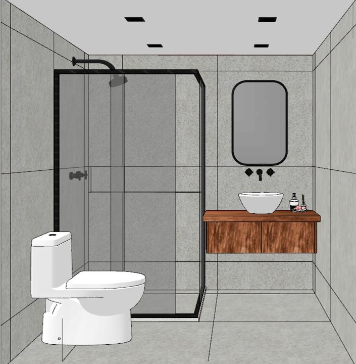 Duplex - banheiro superior frontal
