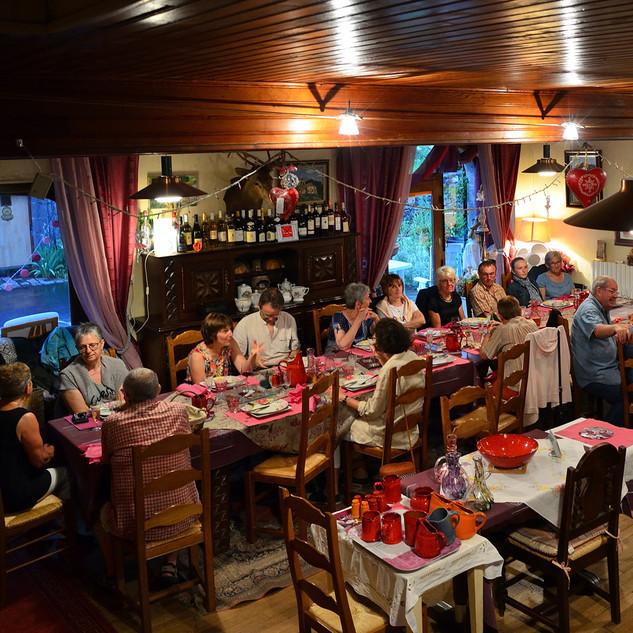 Repas à Brezons (2 juillet)