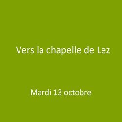 Vers la chapelle de Lez