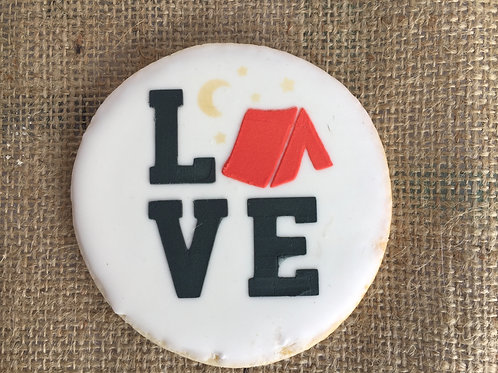 Camping Love Cookie