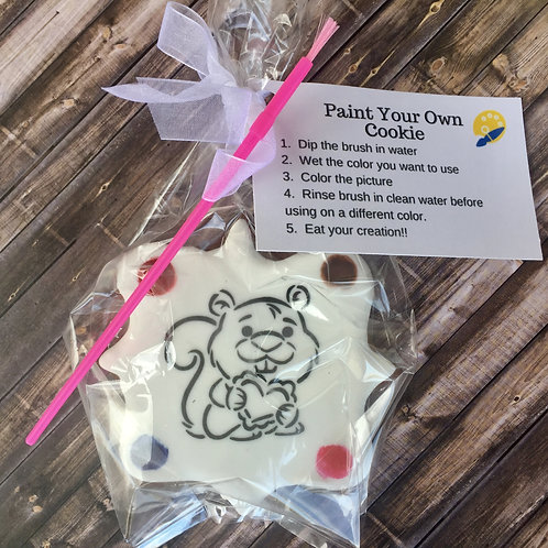 Paint Your Own Valentine Cookie