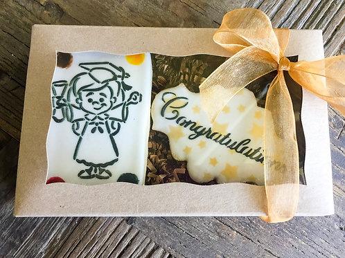 "Two Cookie Graduation ""Paint Your Own"" Cookie Package (Female)"