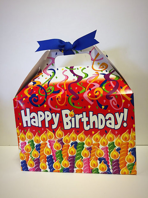 Happy Birthday Box with Streamers