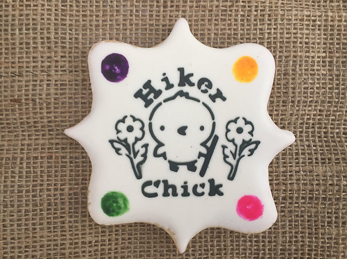 """Hiker Chick """"Paint Your Own"""" Cookie"""