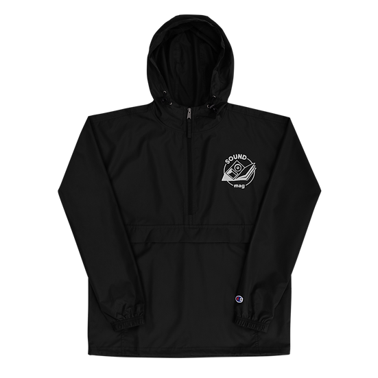 Embroidered Sound Mag Packable Jacket - Black