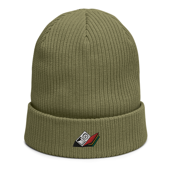 SM21 Red, Gold & Green Beanie - Olive