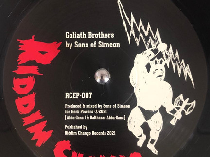 DUBWISE VINYL: Sons of Simeon - Goliath Brothers