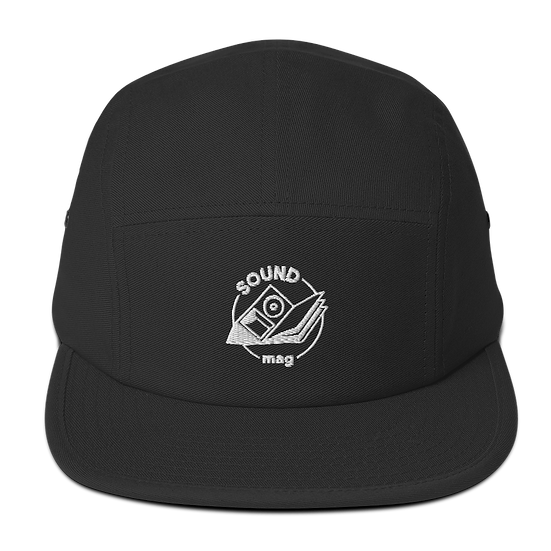 Sound Mag Five Panel Cap - Black