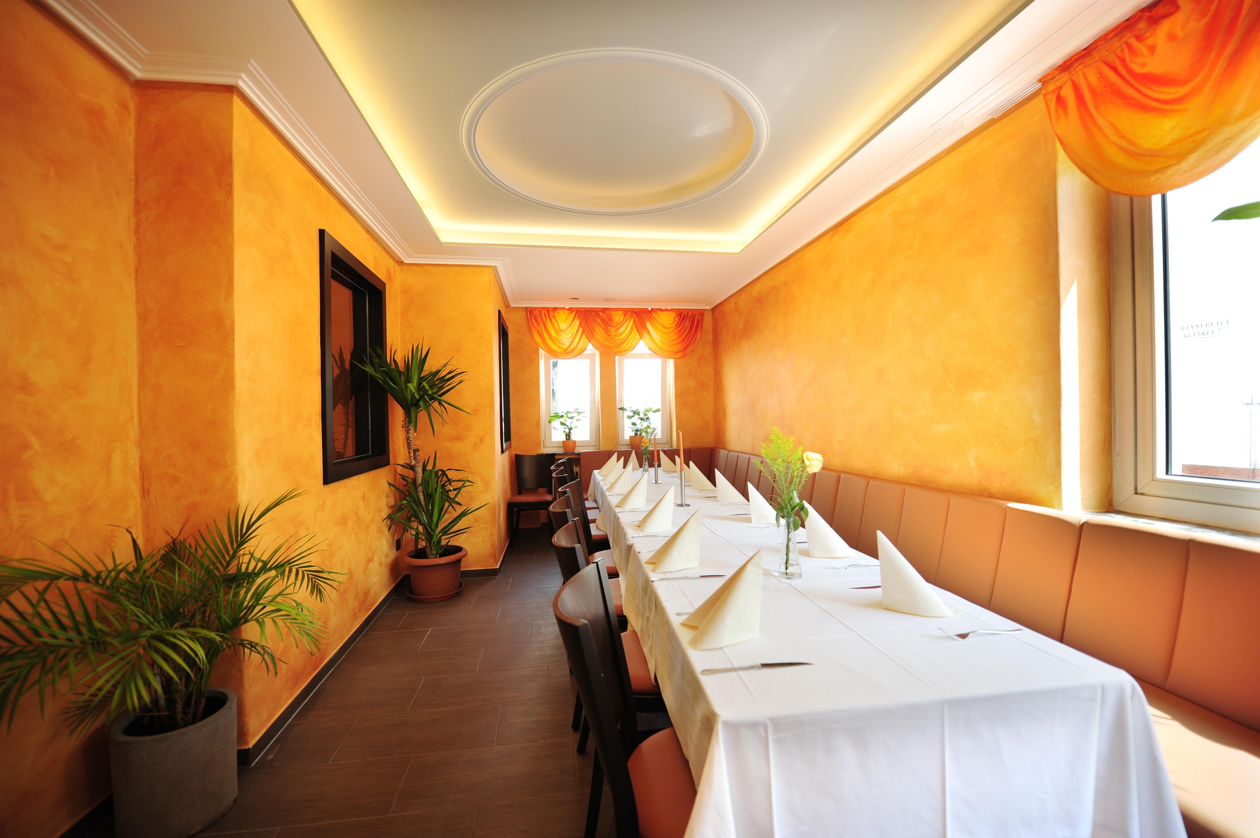 Separee im Restaurant Lava Kroftdorf