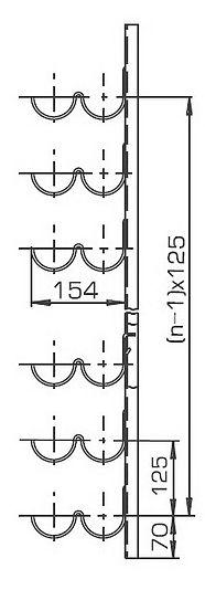 кронштейн прямолинейный Р2В