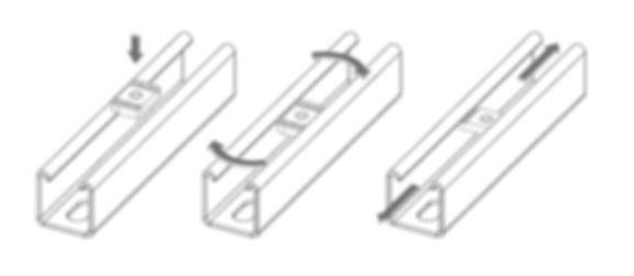 крепление канальной гайки в страт strut профиль
