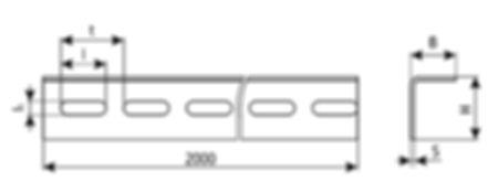 уголок электромонтажный К237, К242