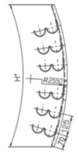кронштейн криволинейны Р2К