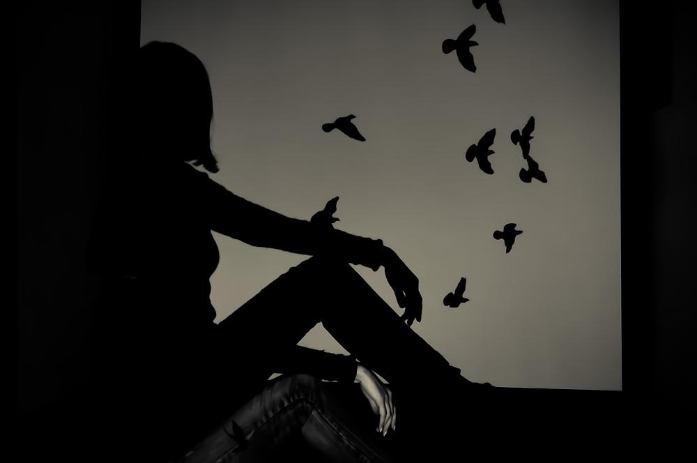 Bildresultat för dark picture silhouette
