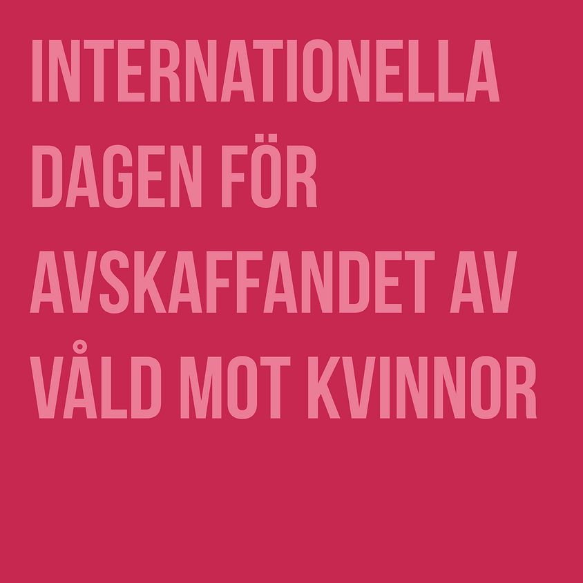 Manifestation för internationella dagen för avskaffandet av våld mot kvinnor