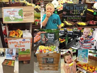Supermercados dão frutas gratuitamente para crianças