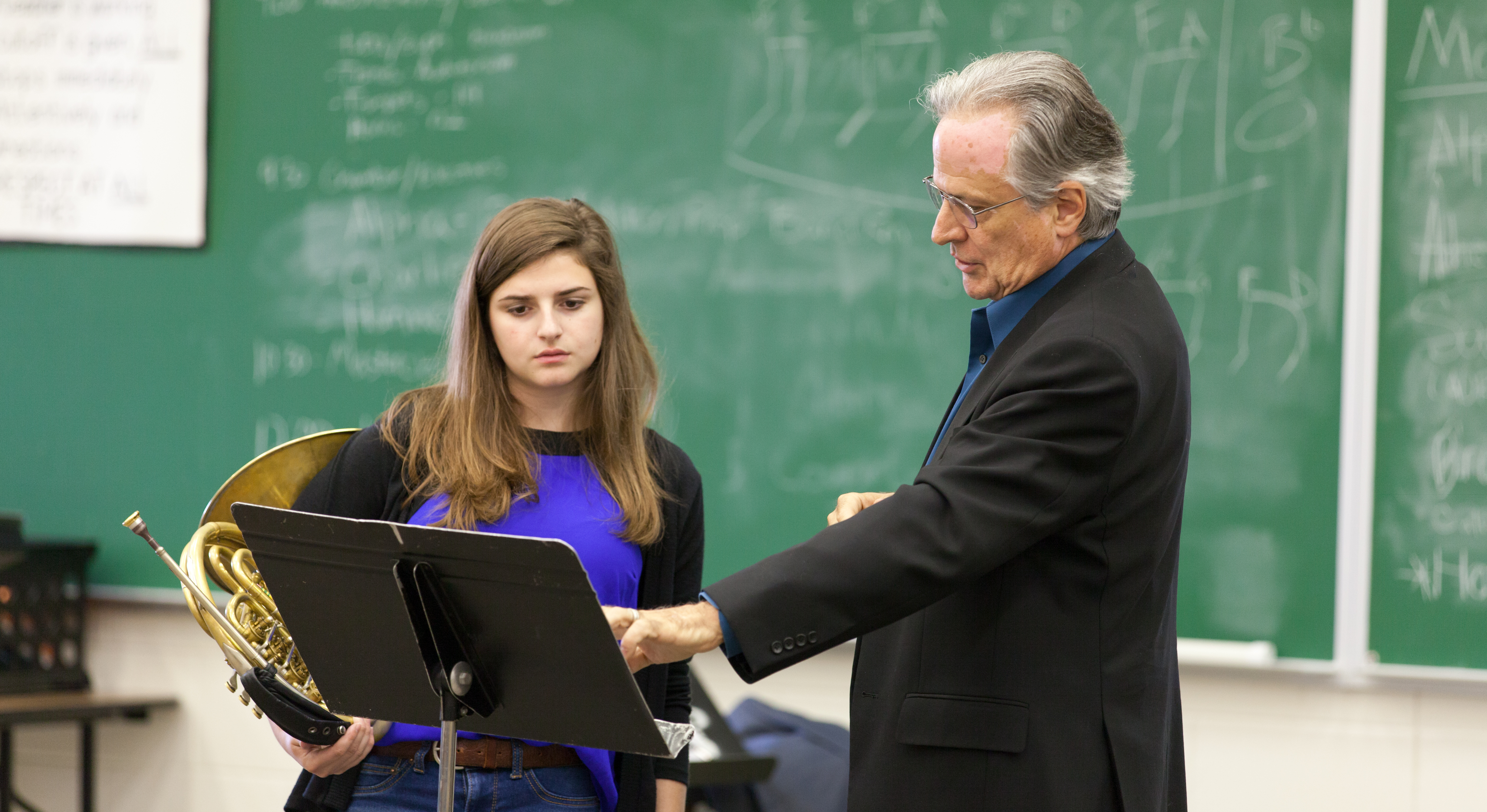 Martin Hackleman works with student