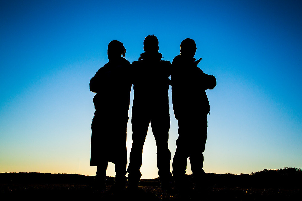 Three shot silhouette by Havelock - commercial photographers in Bristol