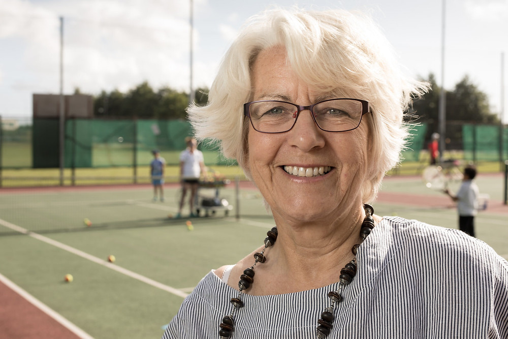 Bristol commercial photography by Havelock - portrait of tennis business woman