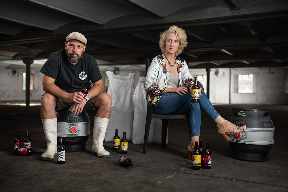 The owners of New Bristol Brewery - Bristol's leading small brewery - brand identity photography by Havelock.