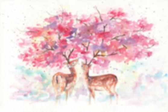 """櫻花下, 2016, Watercolour, 15"""" x 22"""""""