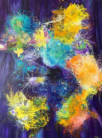 星塵 Stardust, 2017, Acrylic on Canvas, 90cm x 120cm