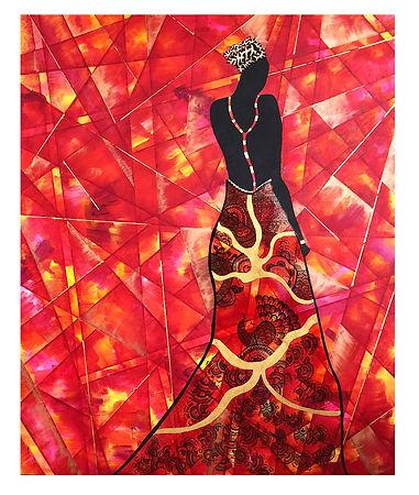 Red Lady, 2015. Acrylic, Epoxy resin, Pa